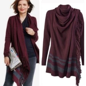 CAbi | Fringe Port Blanket Sweater Wrap